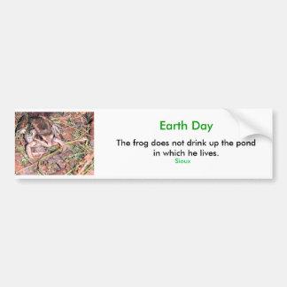 Rana, Día de la Tierra Pegatina Para Auto