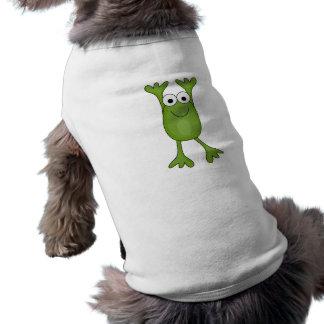 rana divertida del froggy playera sin mangas para perro