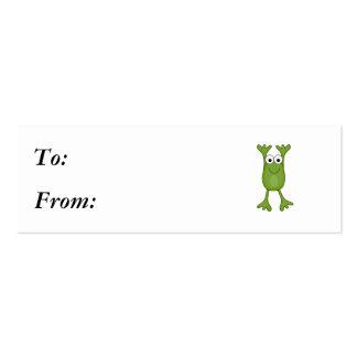 rana divertida del froggy tarjetas de visita mini