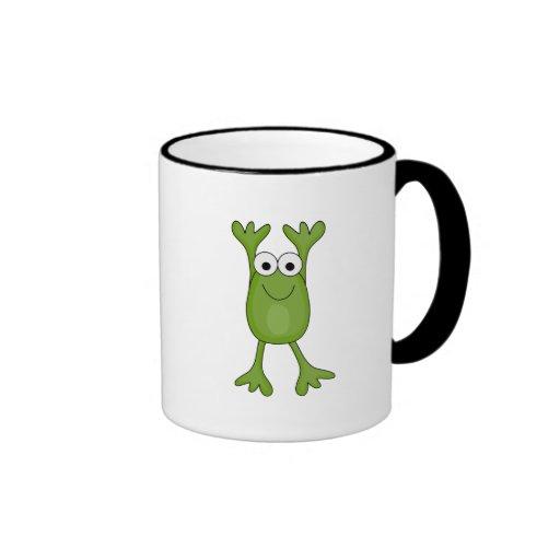 rana divertida del froggy taza de dos colores
