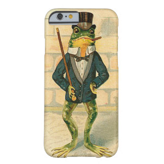 Rana divertida del vintage funda para iPhone 6 barely there