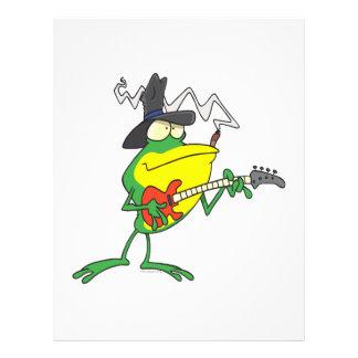"""rana divertida que juega el dibujo animado del fro folleto 8.5"""" x 11"""""""