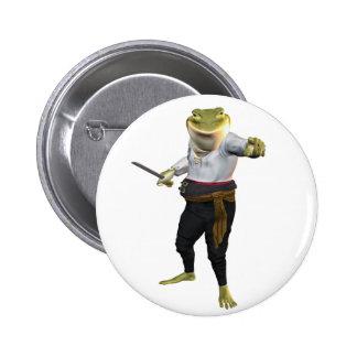 Rana el espadachín del héroe chapa redonda 5 cm