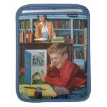 Rana en la biblioteca funda para iPads