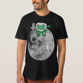 Rana en la camiseta de la luna poleras