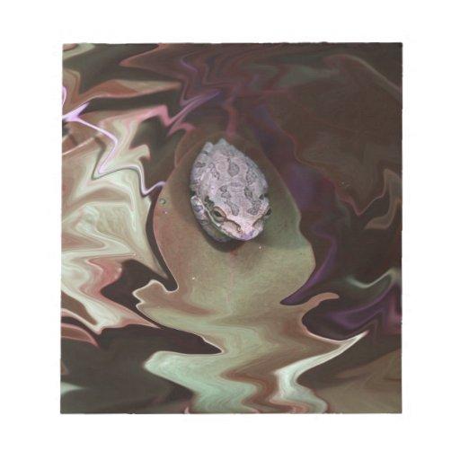 Rana en la falta de definición abstracta purpurina blocs