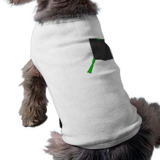 Rana en un bolsillo negro playera sin mangas para perro