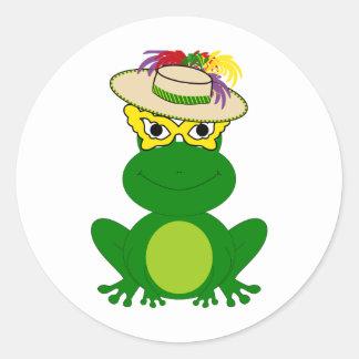 Rana en un gorra y una máscara Camisetas y más de Pegatinas