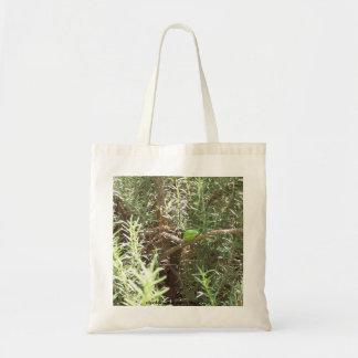 Rana en una planta bolsa tela barata