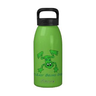 Rana es fácil botellas de agua reutilizables