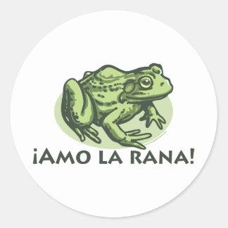Rana española - pegatina de las ranas del amor de