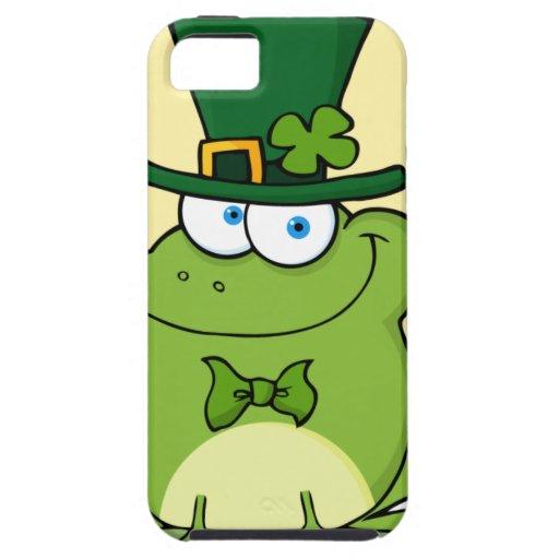 Rana feliz divertida del Leprechaun iPhone 5 Funda