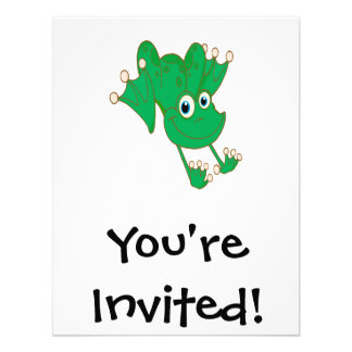 rana feliz linda del dibujo animado del verde de l