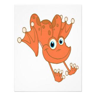 rana feliz linda del naranja de la lupulización invitación personalizada