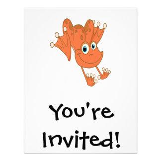 rana feliz linda del naranja de la lupulización comunicados personalizados