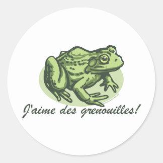 Rana francesa - pegatina de las ranas del amor de