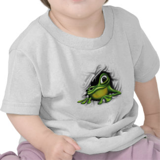 Rana fresca 3d camisetas