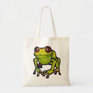 Rana grande del froggy bolsa tela barata
