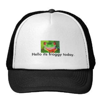 rana hola su froggy hoy gorras