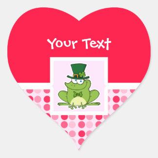Rana irlandesa linda calcomania corazon
