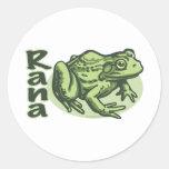 Rana italiana - pegatina del Rana