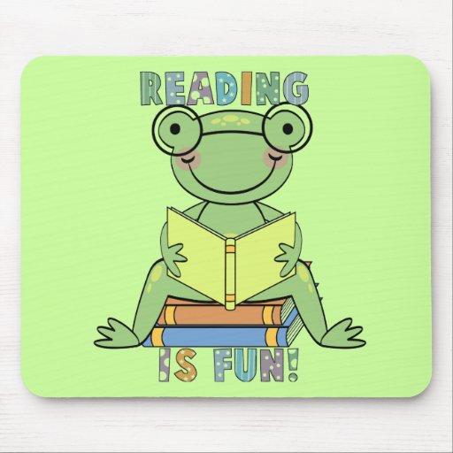 Rana - la lectura es camisetas y regalos de la div tapete de ratón
