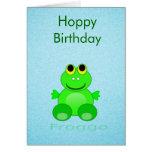 Rana linda de Froggo Felicitacion