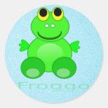 Rana linda de Froggo Pegatina