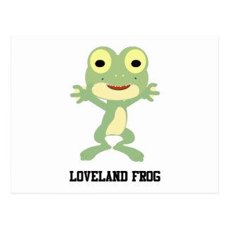 Rana linda de Loveland Postales