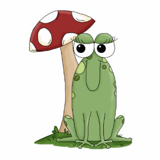Rana linda del dibujo animado con diseño del Toads Esculturas Fotográficas