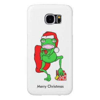 Rana linda del dibujo animado vestida como Santa Funda Samsung Galaxy S6