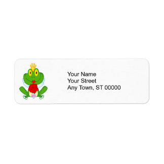 rana linda del froggy de la novia del dibujo anima etiquetas de remite