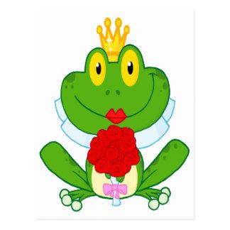 rana linda del froggy de la novia del dibujo tarjetas postales