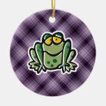 Rana linda; Púrpura Ornamento Para Arbol De Navidad