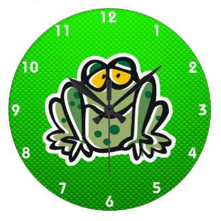 Rana linda; Verde Reloj De Pared