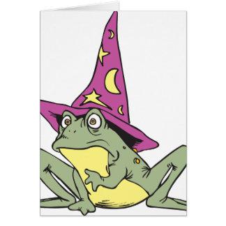 Rana mágica tarjeta de felicitación