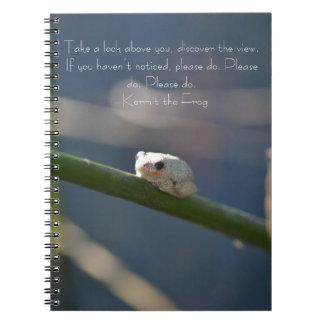 Rana minúscula del río spiral notebook