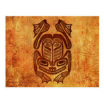 Rana nativa áspera del arte del Haida Tarjetas Postales