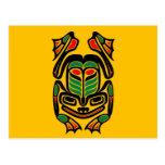 Rana nativa del arte del Haida - ennegrézcase en a Postales