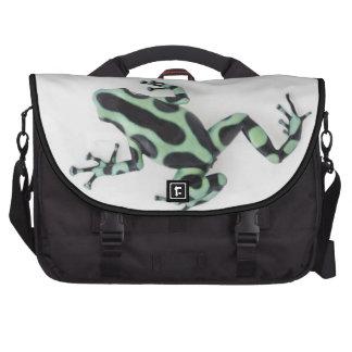 Rana negra y verde 2 del dardo del veneno bolsas para portatil