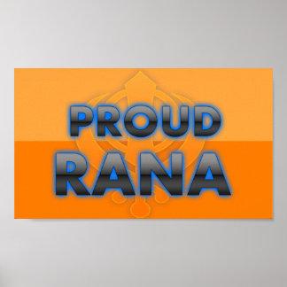 Rana orgulloso orgullo del Rana Impresiones