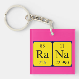 Rana periodic table name keyring keychain