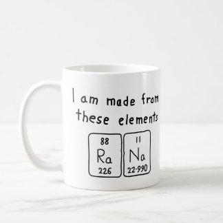 Rana periodic table name mug