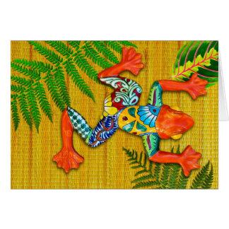 Rana pintada colorida tarjetón