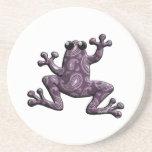 Rana púrpura de Paisley de la lavanda Posavasos Diseño