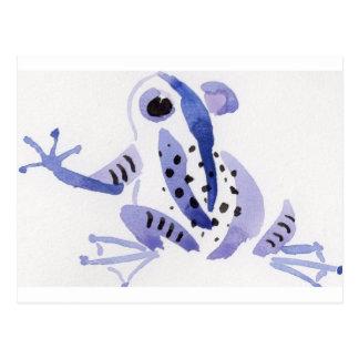 Rana púrpura tarjetas postales