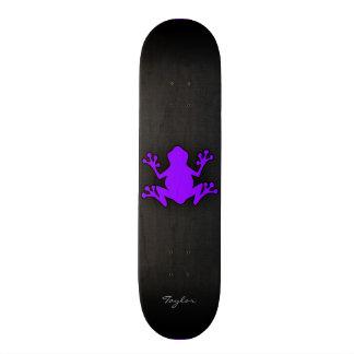 "Rana púrpura violeta patineta 7 3/4"""