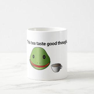 ¡Rana que este gusto del té bueno asalte sin Taza Básica Blanca
