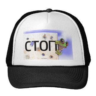 Rana que viaja gorras