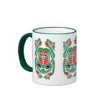 Rana roja y verde del arte nativo del Haida Tazas De Café